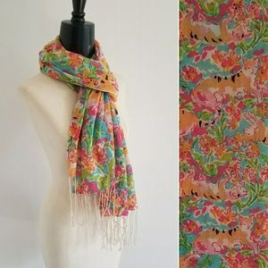 LILLY PULITZER call me kitty murfee scarf